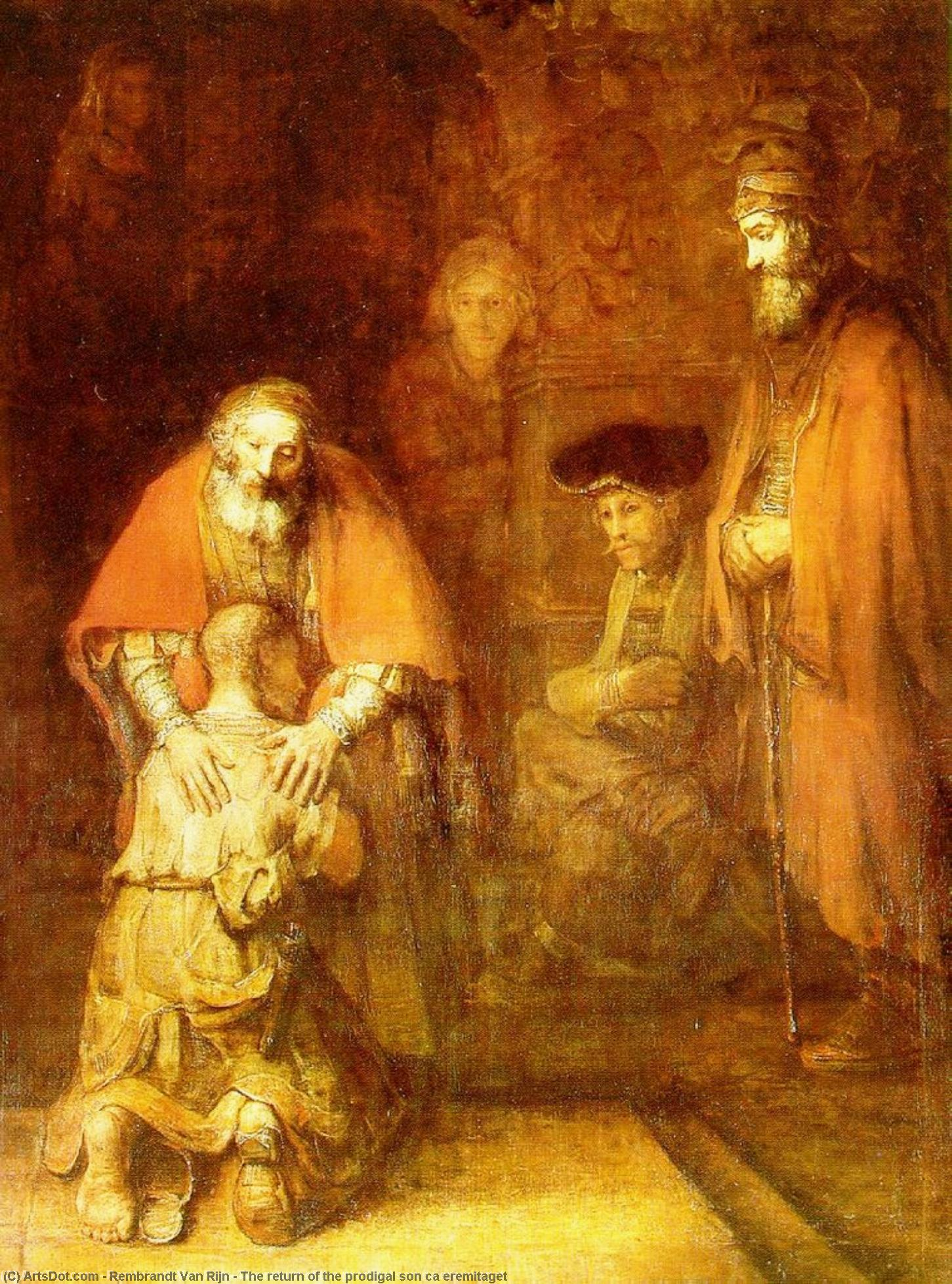 Rembrandt Van Rijn The Return Of The Prodigal Son Ca Eremitaget